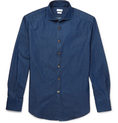 Brunello Cucinelli Garment-Dyed Denim Shirt