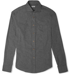 Brunello Cucinelli Slim-Fit Cotton-Flannel Shirt