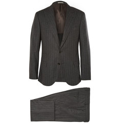 Brunello Cucinelli Grey Slim-Fit Wool, Silk and Cashmere-Blend Suit