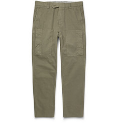 Brunello Cucinelli Tapered Washed Cotton-Twill Cargo Trousers
