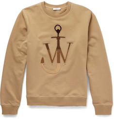 J.W.Anderson Appliquéd Loopback Cotton-Jersey Sweatshirt