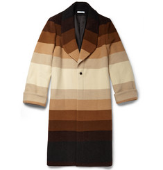 J.W.Anderson Striped Wool Overcoat