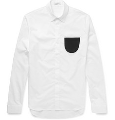 J.W.Anderson Slim-Fit Contrast-Pocket Cotton-Poplin Shirt