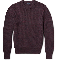 Lanvin Mélange Chunky-Knit Wool Sweater