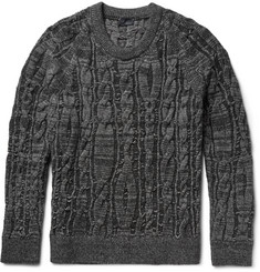 Lanvin Cable-Knit Stretch Wool-Blend Sweater