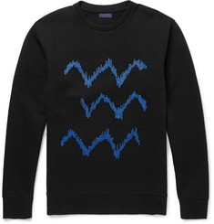 Lanvin Embroidered Cotton-Blend Jersey Sweatshirt