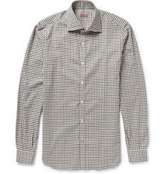 Isaia Slim-Fit Gingham Cotton-Flannel Shirt