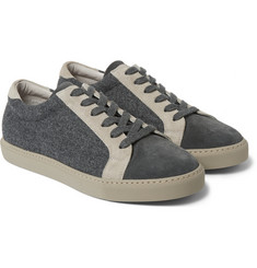 Brunello Cucinelli Suede-Trimmed Felt Sneakers