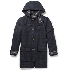 Raf Simons Checked Wool-Blend Duffle Coat