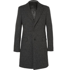 Raf Simons Slim-Fit Checked Virgin Wool Coat
