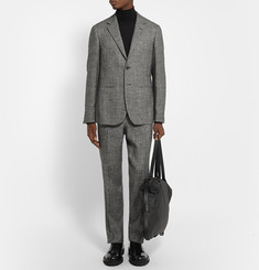 Raf Simons Charcoal Wool, Silk, Linen and Cashmere-Blend Suit Jacket