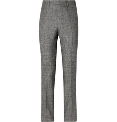 Raf Simons Grey Wool, Silk, Linen and Cashmere-Blend Suit Trousers