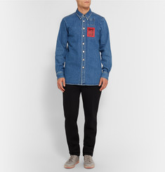 Raf Simons Washed-Denim Shirt
