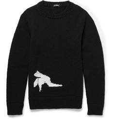 Raf Simons Bird-Intarsia Wool Sweater