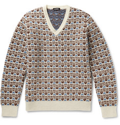 Raf Simons Wool-Jacquard Sweater