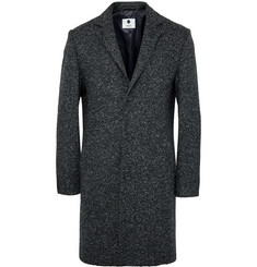 NN.07 Aaron Slim-Fit Wool-Blend Tweed Overcoat