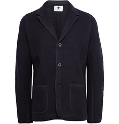NN.07 Midnight-Blue Wallace Unstructured Boiled Wool Blazer