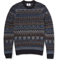 NN.07 Tony Fair Isle Wool-Blend Sweater