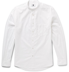 NN.07 Devon Slim-Fit Grandad-Collar Cotton Oxford Shirt