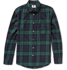 NN.07 Dexter Slim-Fit Checked Cotton-Flannel Shirt