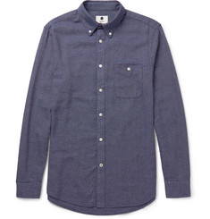 NN.07 Derek Slim-Fit Mélange Cotton Shirt