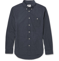 NN.07 New Derek Slim-Fit Brushed Cotton-Flannel Shirt