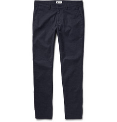 NN.07 Marco Slim-Fit Herringbone Cotton Trousers