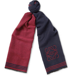 Loewe Wool and Silk-Blend Jacquard Scarf