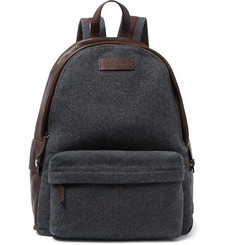 Brunello Cucinelli - Leather and Felt Backpack
