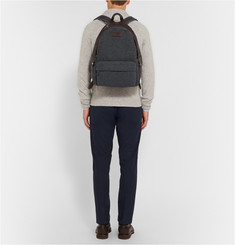 Brunello Cucinelli Leather and Felt Backpack