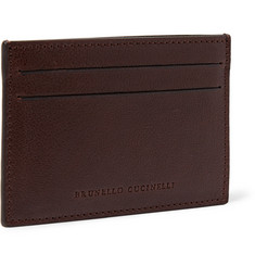 Brunello Cucinelli Grained-Leather Cardholder