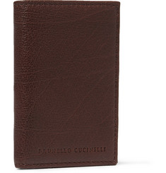 Brunello Cucinelli Full-Grain Leather Billfold Wallet