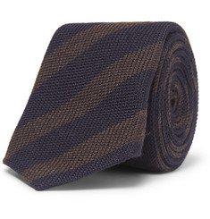 Brunello Cucinelli Striped Wool and Silk-Blend Tie
