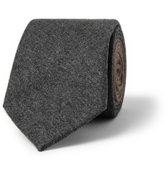 Brunello Cucinelli Wool, Silk and Cashmere-Blend Flannel Tie