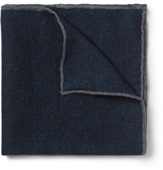 Brunello Cucinelli Mélange Wool Pocket Square