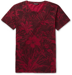 Balmain Floral-Print Cotton T-Shirt