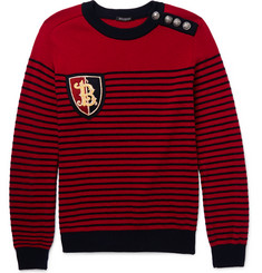 Balmain Embellished Merino Wool-Blend Sweater