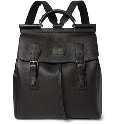 Dolce & Gabbana Grained-Leather Backpack