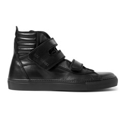 Raf Simons Leather High-Top Sneakers