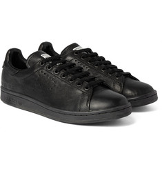 Raf Simons - + adidas Stan Smith Distressed Leather Sneakers