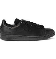 Raf Simons + adidas Stan Smith Distressed Leather Sneakers