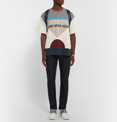 Valentino On My Mind Again Printed Cotton-Jersey T-Shirt
