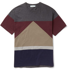 Valentino Panelled Cotton-Jersey T-Shirt