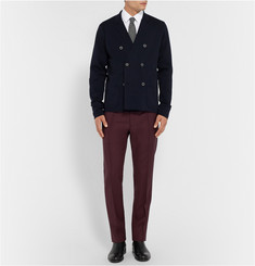 Valentino Slim-Fit Wool and Mohair-Blend Trousers