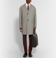 Valentino Oversized Checked Virgin Wool Coat