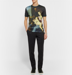 Dolce & Gabbana Slim-Fit Printed Cotton-Jersey T-Shirt