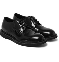 Dolce & Gabbana Polished-Leather Derby Shoes