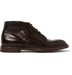Dolce & Gabbana Brogue-Detailed Leather Boots
