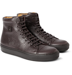 Acne Studios Adrian Grained-Leather High-Top Sneakers