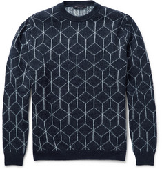 Christopher Kane Geometric-Intarsia Knitted Sweater